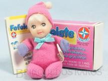 1. Brinquedos antigos - Estrela - Fofolete Rosa com 8,00 Cm de altura Olhos pintados Ano 1998