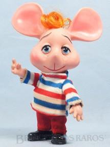 1. Brinquedos antigos - Estrela - Boneco Topo Gigio com 18,00 Cm de altura Roupa de Tecido Primeira Série com bigodes Ano 1970