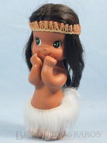 1. Brinquedos antigos - Sem identificação - Boneca Indiazinha com 17,00 Cm de altura Década de 1970