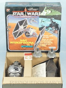 1. Brinquedos antigos - Glasslite - Nave Interceptadora Star Wars perfeito estado Adesivos ainda por colar Ano 1988