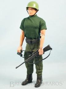 1. Brinquedos antigos - Estrela - Boneco Falcon Soldado de Combate completo com 7 itens Série Força de Ataque Edição 2000