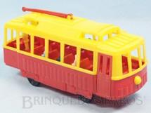 1. Brinquedos antigos - Mirim - Bonde com figuras 21,00 cm de comprimento Década de 1950