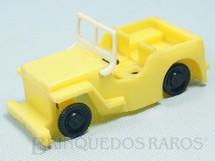 1. Brinquedos antigos - Trol - Jeep Willys com 11,cm de comprimento Década de 1960