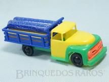 1. Brinquedos antigos - Piloto - Caminhão Ford F-350 1960 com carga de Toras 13,00 cm de comprimento Década de 1960
