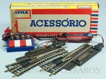1. Brinquedos antigos - Atma - Par de Desvios elétricos de níckel com chave de acionamento Década de 1970