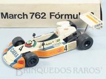 1. Brinquedos antigos - Minimac - March 762 Fórmula 2 com 17,00 de comprimento Piloto Alex Dias Ribeiro Década de 1980