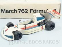 1. Brinquedos antigos - Minimac - March 762 Fórmula 2 com 17,00 de comprimento Tiger Collection Década de 1980