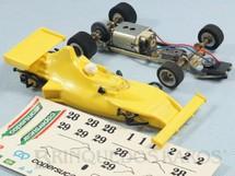 1. Brinquedos antigos - Estrela - Copersucar Série Emerson Fittipaldi Fórmula 1 amarela Chassi de latão Acompanha Cópia das Decais Originais Ano 1977