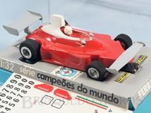 1. Brinquedos antigos - Estrela - Ferrari 312T Série Emerson Fittipaldi Fórmula 1 piloto Nick Lauda Chassi de latão Acompanha Cópia das Decais Originais Ano 1977