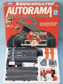 1. Brinquedos antigos - Estrela - Conjunto de Autorama Senna-Ás da Largada Ayrton Senna Completo com dois carros Perfeito estado Ano 1992