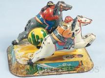 1. Brinquedos antigos - S.Y. - Cowboy e índio cavalgando no Deserto Década de 1950