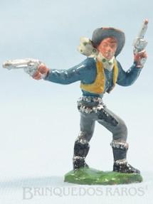 1. Brinquedos antigos - Casablanca e Gulliver - Cowboy a pé com dois revolveres atirando para trás Casablanca numerado 163