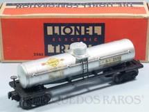 1. Brinquedos antigos - Lionel - Vagão 2555 Sunoco Tank Car S.U.N.X. ano 1946 a 1948