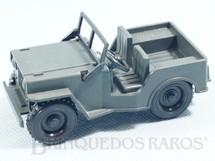 1. Brinquedos antigos - Sem identificação - Jeep Willys com 10 cm de comprimento Década de 1980