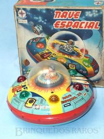 1. Brinquedos antigos - Estrela - Disco Voador Nave Espacial X-3 com 26,00 cm de diâmetro Década de 1960