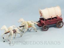 1. Brinquedos antigos - Casablanca e Gulliver - Carroça Casablanca Coberta com quatro cavalos índios Cavalos numerados 10 Rodas numeradas 174 e 175  Primeira Série Ano 1965