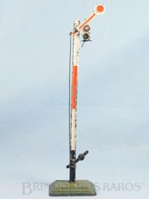 1. Brinquedos antigos - Marklin - Sinaleiro de linha bitola 1 com 28,00 cm de altura Década de 1930