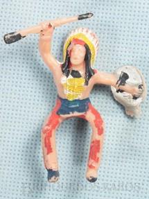 1. Brinquedos antigos - Casablanca e Gulliver - Chefe índio montado a Cavalo com rifle e escudo Distribuído pela Trol e pela Viocena Década de 1970