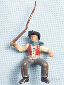 1. Brinquedos antigos - Casablanca e Gulliver - Cowboy com chicote Cowboy Carroceiro Casablanca numerado 126 para carroças de madeira Década de 1960