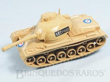 1. Brinquedos antigos - Casablanca e Gulliver - Tanque de guerra Leopard com 16,00 cm de comprimento Bege Série Forças Armadas Década de 1980