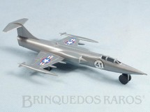 1. Brinquedos antigos - Casablanca e Gulliver - Avião F-104 Starfighter cinza Série Forças Armadas Década de 1980