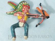 1. Brinquedos antigos - Casablanca e Gulliver - Chefe índio montado a cavalo atirando flecha incendiária Chefe Flexa Vermelha  Numerado 139 Década de 1960