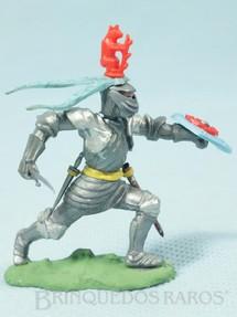 1. Brinquedos antigos - Britains - Soldado medieval com Espada e Escudo Série Swoppet Knights completo Perfeito estado Década de 1960