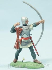 1. Brinquedos antigos - Britains - Soldado medieval de pé atirando com arco  Série Swoppet Knights completo Perfeito estado Década de 1960