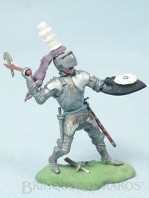1. Brinquedos antigos - Britains - Soldado medieval com machado e escudo Série Swoppet Knights completo Perfeito estado Década de 1960