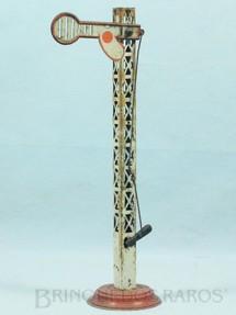 1. Brinquedos antigos - Sem identificação - Sinaleiro de linha com 26,00 cm de altura Mudança por alavanca Década de 1930