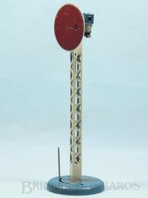 1. Brinquedos antigos - Hornby Meccano - Sinaleiro de linha com 25,00 cm de altura Hornby Paris Década de 1930