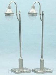 1. Brinquedos antigos - MosKabel - Postes de iluminação pública 25,00 cm de altura com cúpula de vidro Década de 1930