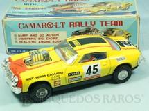 1. Brinquedos antigos - Asahi - Chevrolet Camaro LT Rally Tean Sistema Bate e Volta Motor com movimento 24,00 cm de comprimento Década de 1970