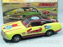 1. Brinquedos antigos - T.P.S. - Ford Mustang Mach I The Swinger verde Sistema Cavalo de Pau 27,00 cm de comprimento Década de 1970