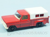 1. Brinquedos antigos - Matchbox - Caminhonete Ford Pickup black plastic Regular Wheels