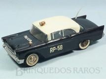 1. Brinquedos antigos - Atma - Chevrolet Bel Air 1956 Policia com 30,00 cm de comprimento Década de 1960