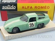 1. Brinquedos antigos - Solido-Brosol - Alfa Romeo Giulia TZ Rally verde claro Fabricada pela Brosol Solido brésilienne Datada 6-1966