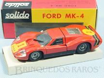 1. Brinquedos antigos - Solido-Brosol - Ford Mark IV Le Mans vermelho Fabricado pela Brosol Solido brésilienne Datado 2-1969