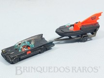 1. Brinquedos antigos - Corgi Toys-Husky - Conjunto Carro do Batman Batmobile whit Batboat Batmóvel com Batlancha Husky Ano 1966