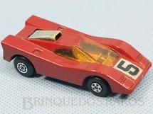 1. Brinquedos antigos - Matchbox - Inbrima - Hairy Hustler Superfast vermelho escuro Brazilian Matchbox Inbrima 1970
