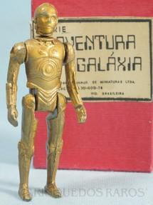 1. Brinquedos antigos - Model Trem - Robot C3PO com 10,00 cm de altura Série Novas Aventuras nas Galáxias Guerra nas Estrelas Star Wars Década de 1970