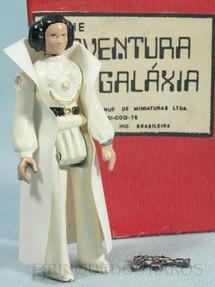 1. Brinquedos antigos - Model Trem - Princesa Leia Organa com 10,00 cm de altura Completa com Capa e Arma Série Novas Aventuras nas Galáxias Guerra nas Estrelas Star Wars Ano 1983