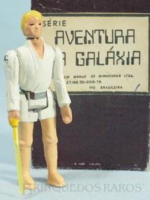 1. Brinquedos antigos - Model Trem - Luke Skywalker com 10,00 cm de altura Série Novas Aventuras nas Galáxias Guerra nas Estrelas Star Wars Ano 1983