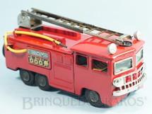 1. Brinquedos antigos - Bandai - Caminhão com escada e mangueira 22,00 cm de comprimento Década de 1960