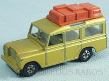 1. Brinquedos antigos - Matchbox - Land Rover Safari Superfast Transitional Weels dourado