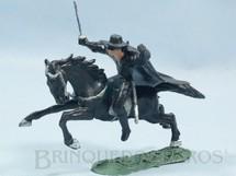 1. Brinquedos antigos - Casablanca e Gulliver - Figura completa do Zorro a cavalo Série O Zorro Década de 1970