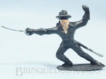 Brinquedos Antigos - Casablanca e Gulliver - Figura do Zorro de p� com espada S�rie O Zorro distribu�do pela Trol D�cada de 1970