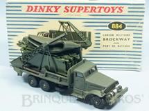 1. Brinquedos antigos - Dinky Toys - Caminhão Ponte Brockway completo com Ponte Flutuante botes Infláveis e Cenário Ano 1961