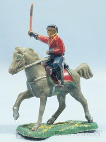 1. Brinquedos antigos - Fanabri - Comandante do Exército Paraguaio a cavalo com Sabre Batalha do Tuiutí Década de 1960
