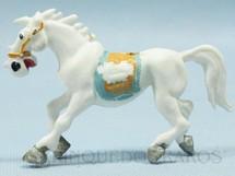1. Brinquedos antigos - Casablanca e Gulliver - Cavalo de Cowboy branco Série Brincalhões de Forte Apache Ano 1973